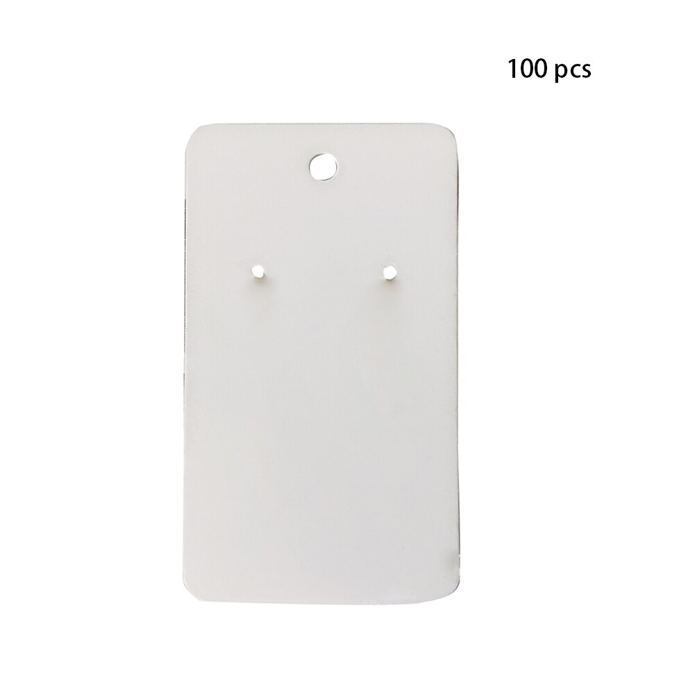 100 Uds tablero de etiquetas de papel de cartón liso tarjetas de pendientes caseras accesorios de joyería caja contenedora de exhibición para pendientes Retro