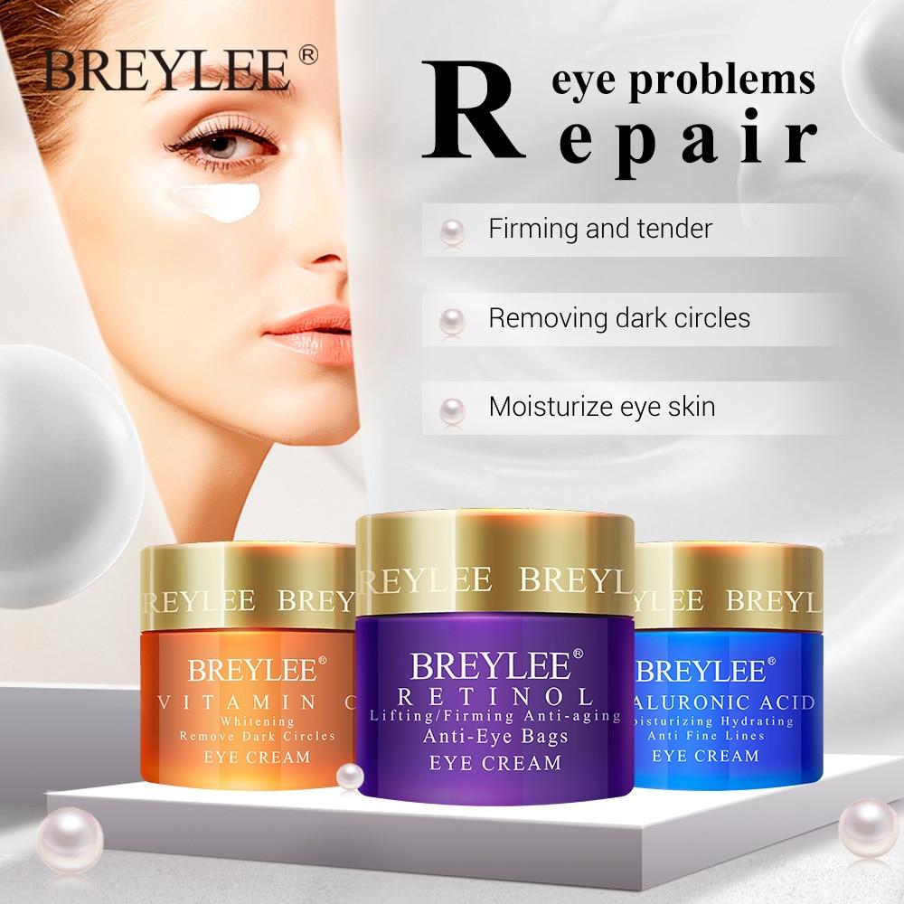 Retinol Eye Cream Anti Wrinkle Anti-aging Remove Dark Circle Eye Bags Hyaluronic acid Moisturize Vitamin C Whitening Eyes Care недорого