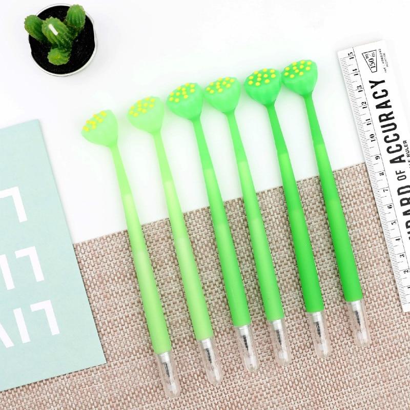 20 pçs ponta completa 0.5mm caneta bonito criativo macio silicone preto fricção gel caneta kawaii material escolar papelaria