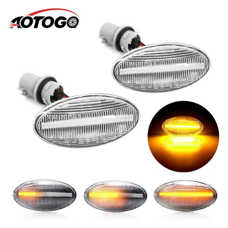 Luz de sinal lateral dinâmica de led, 2 peças, luz sequencial, blinker, indicador de luz para suzuki swift jimy vitara sx4 alto