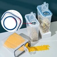1pcs plastic cereal dispenser storage box kitchen food grain rice container nice kitchen rice storage box flour grain storage