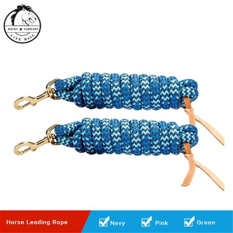 Cavassion Equestrian PP Horse Leading Rope Horse Riding Bridle Saddlery Equipment Colorful Quality High Tensile Strength