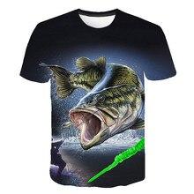 Fisch kinder T-shirt 3d Druck T-shirt Lustige T Shirts Hip Hop jungen mädchen T-shirt Fischer Metall Kleidung Casual tops