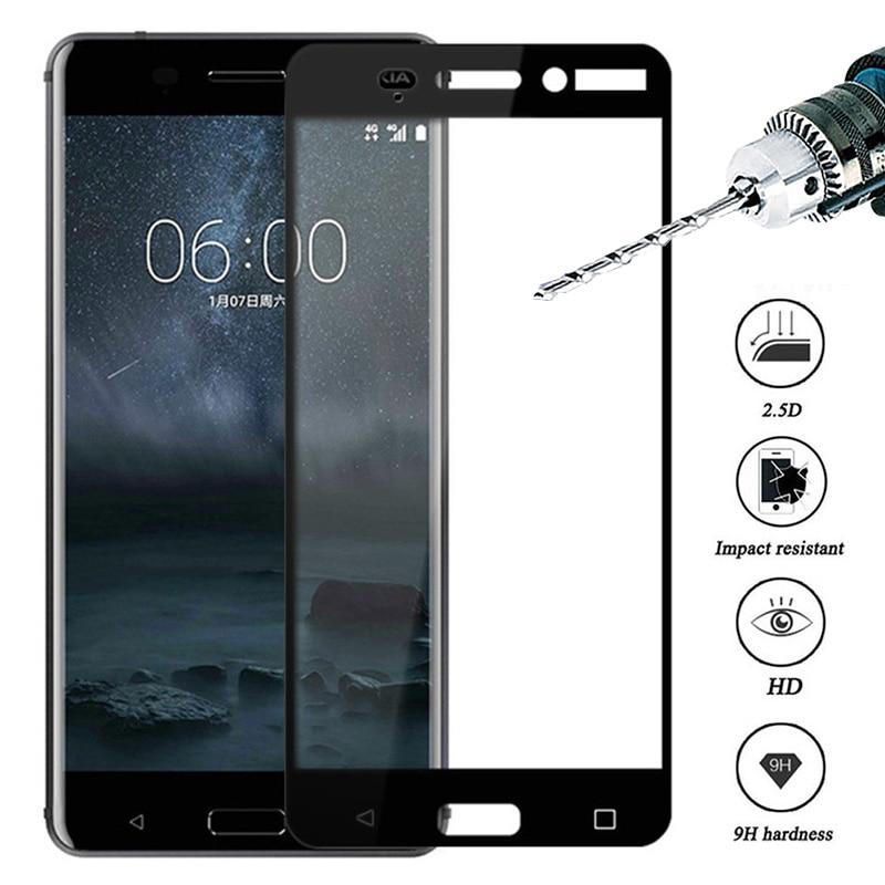 Защитное стекло на Nokia 7 7,1 plus x6 8,1 протектор экрана закаленное стекло для Nokia 5 6 2 3 2018 полная защита крышки 9H