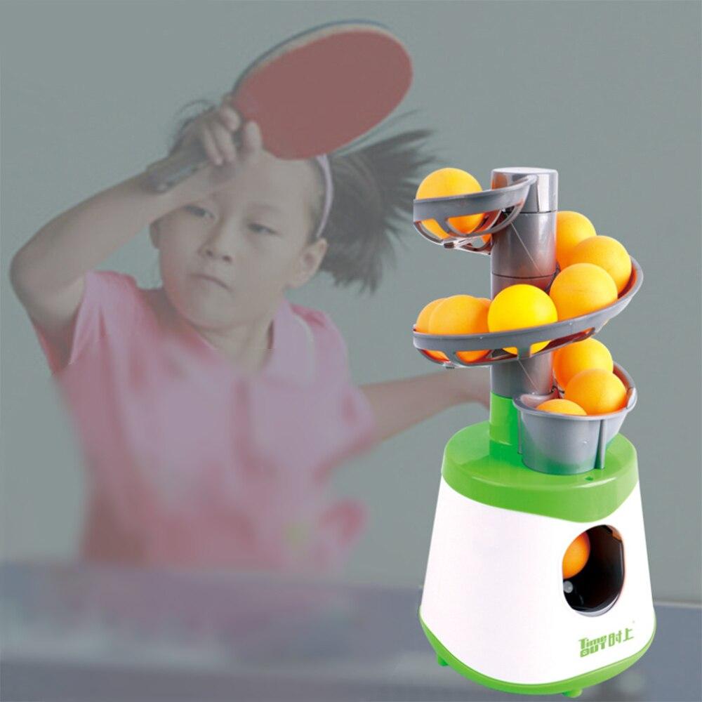 Mini Robot de tenis de mesa padre-hijo estudiante remitente Pitching Serve Machine Trainer regalo raqueta deporte 40 + pelotas de Ping Pong