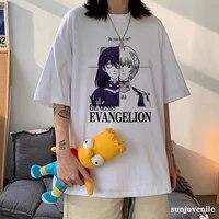ayanami rei anime printed tops summer harajuku tee japanese girl gothic style womens t shirt 90s aesthetics %e2%80%8bvintage streetwear