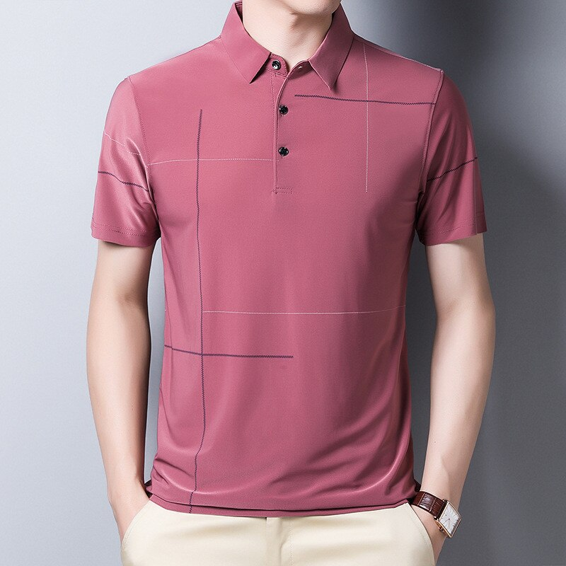 Slim Striped Polo Shirt Short Sleeve Men Fashion The Buyz