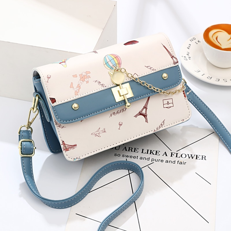 DN Small Crossbody Bags for Women Printing Shoulder Bag Women's Bags 2021 Fashionable Panelled Desig