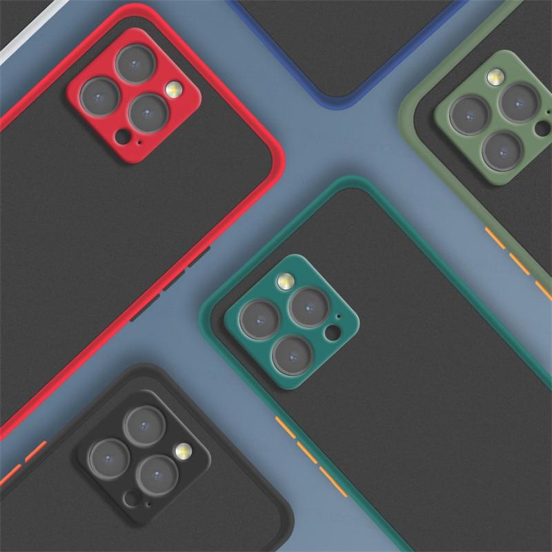 Coque antichoc en Silicone mat translucide pour Apple iPhone, compatible modèles 13, 12, 11 Pro Max, 13