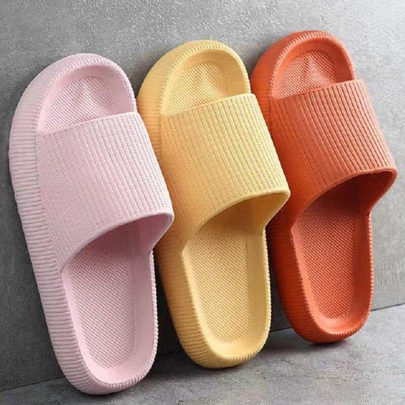 Slippers Beach Eva Soft Sole Slide Sandals Leisure Men Ladies Indoor Bathroom Anti-slip Shoes