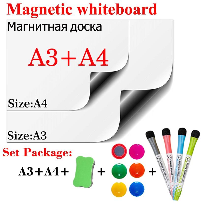 Soft Magnetic Whiteboard Dry Erase Calendar White Board Bulletin Message Board Children's Practice Board Menu Plan