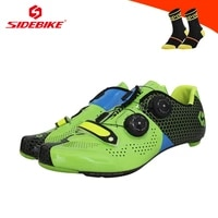 sidebike road shoes carbon self locking breathable zapatos hombre riding bicycle sneakers ultra light outdoor road bike shoes