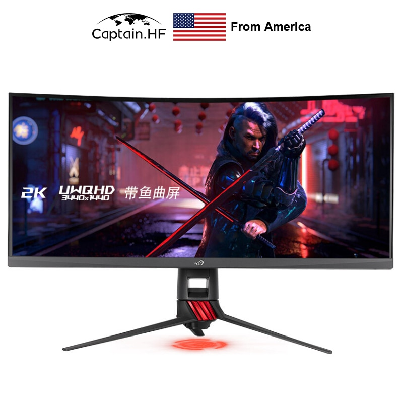 Brand new original, Rog xg35vq 35 inch hairtail screen, 2K Shenguang synchronization, electronic competition LCD