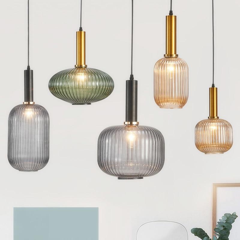 Nordic Restaurant Pendant Lights Bar Hanging Lamp Bedroom Living Room  Glass Pendant Lamp lustre Kitchen Suspension Luminaire