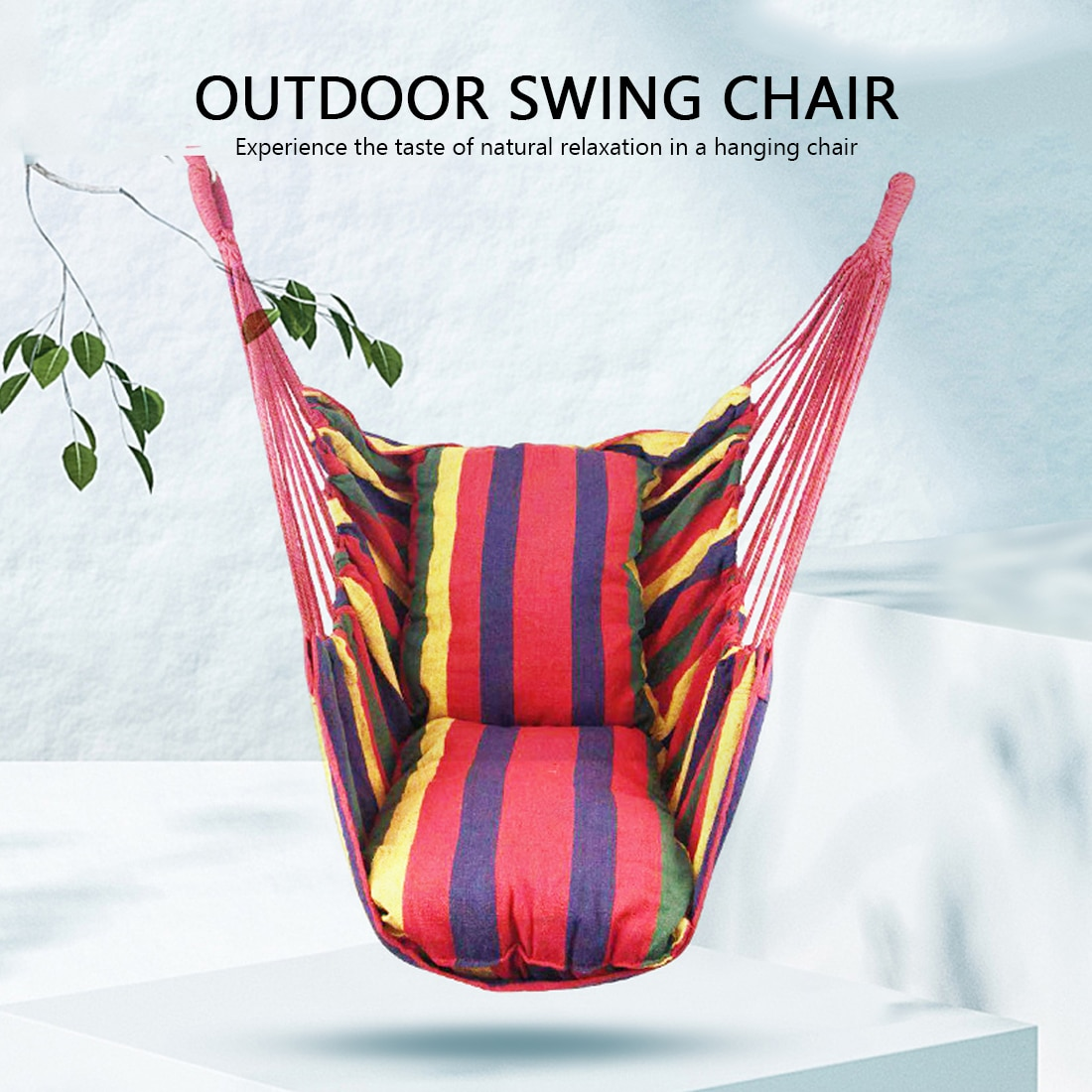 No Pillow Hammock Camping Outdoor Furniture Hanging Rope Hammock Chair Swing Garden Hanging Hammock Swing Chair Lazy Canvas Bed