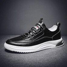 2020 genuine Leather Sneakers Mens Luxury Shoes Men Designer Black Shoe Men Fashion Shoes Flats Slip On Casual Sneakers men
