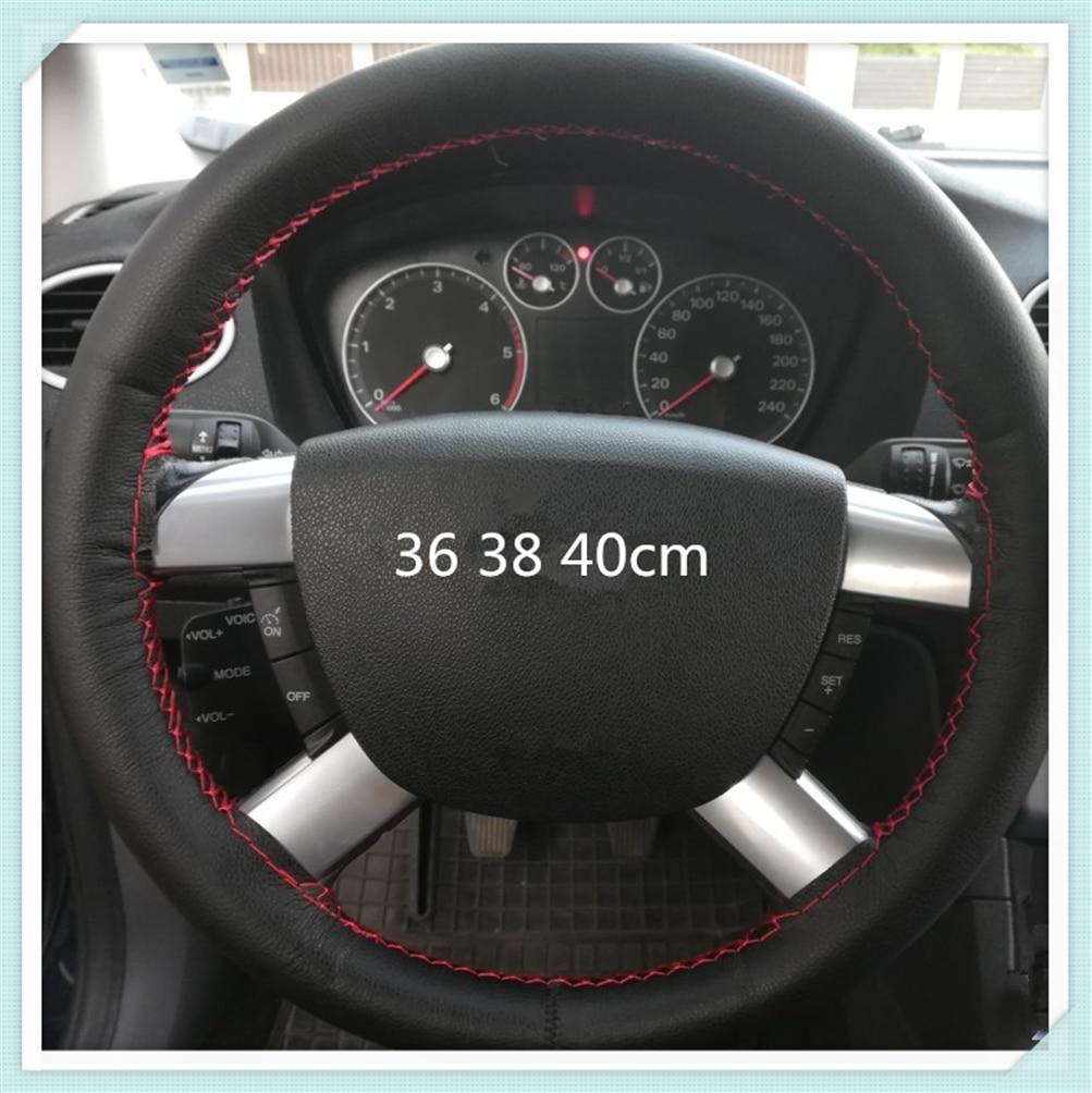 Universal cobertura de volante de carro de couro artificial tecido auto peças para Kia K2 K3 K5 k9 No3 Magentis Borrego Hyundai