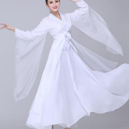 Womens Adult Classical Dance Dress Costumes Elegant Chinese Style Fresh Elegant White/Red Costume Performance Hanfu AE703