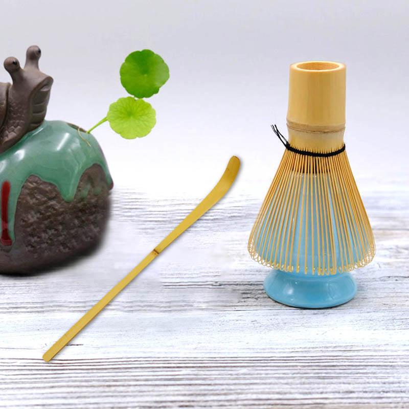 Juegos de Matcha tradicional de 3 uds., batidor de bambú Natural para Matcha cerámica, recipiente para batir, juegos de té de estilo japonés-35