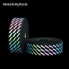 Racefiets Stuur Tapes Meekleurende Fiets Licht Reflecterende Bar Tape Met End Plug Zachte Racefiets Wrap Pu + Eva accessoires