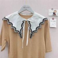 fake collar korean version of solid color ladies shirt collar decoration spring and autumn summer hollow shoulder shirt collar
