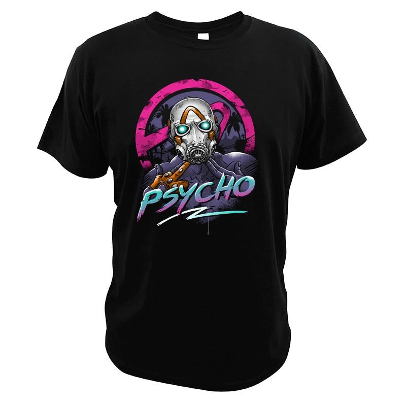 Borderlands T Hemd Video Spiel Psycho Krieg EU Größe Männer T-shirt Rolle Spielen Spiel Digitaldruck Hohe Qualität Tees