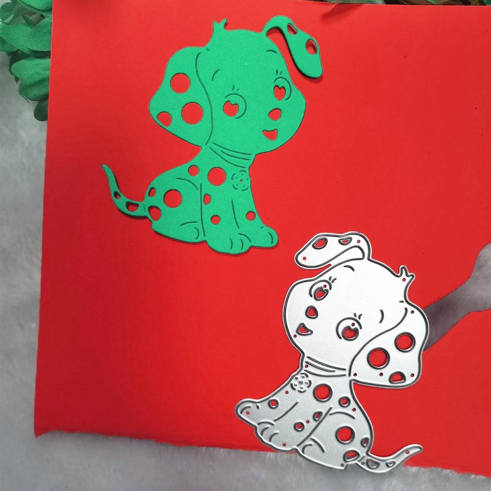 Cute Dog Craft Metal Cutting Dies Mold Punch Stencil Template for DIY Scrapbooking Paper Album Photo Card Making Die Cut Die