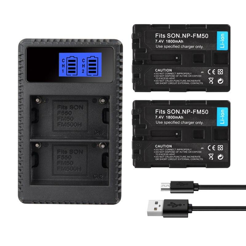FM50 1800mAh Baterias Recargables Litio For Sony NP-FM51 NP-FM30 NP-FM55H DCR-PC101 A100 DCR-PC103 Series DSLR-A100 NP-FM50