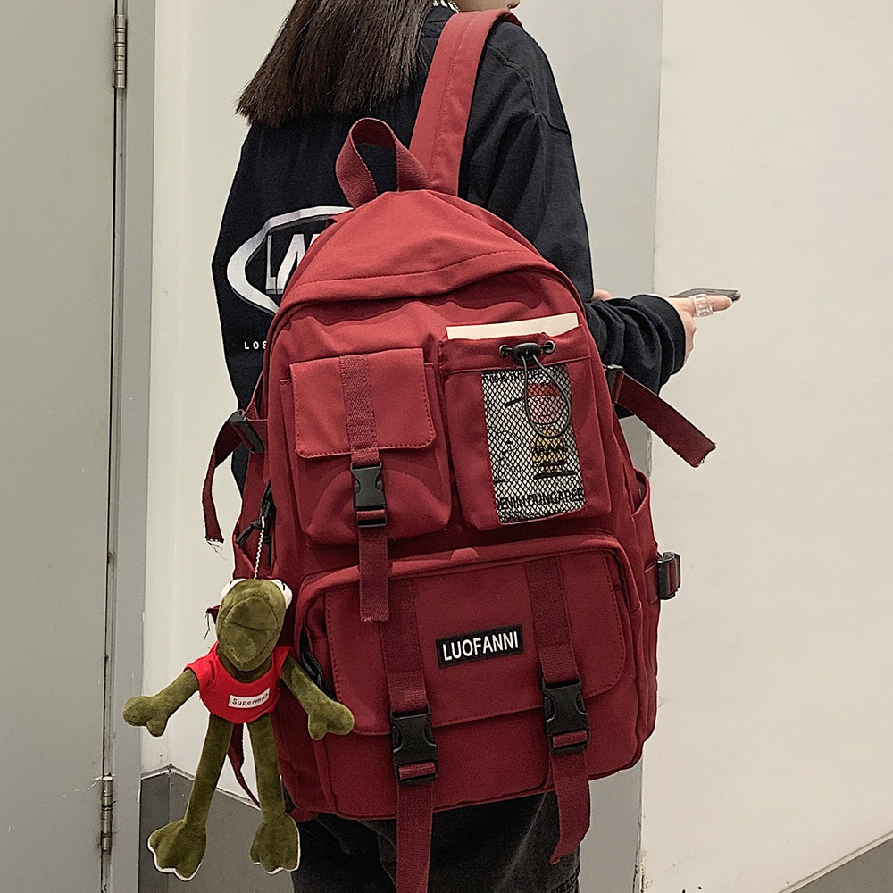 Women Boy Nylon Backpack Travel Mesh Female Student College School Bag Men Girl Cool Laptop Backpack Male Fashion Book Bags Lady