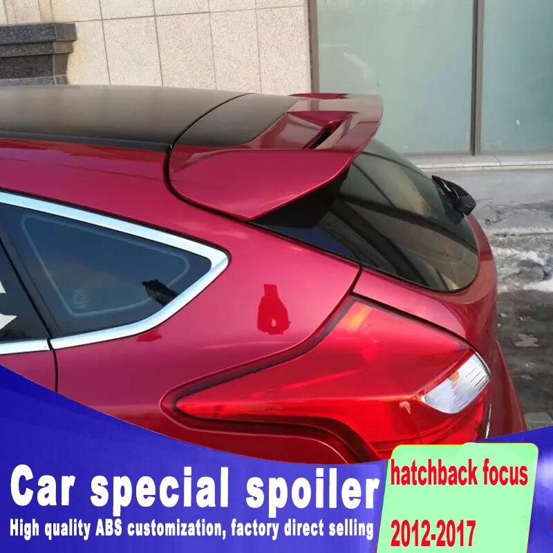 Grand spoiler Stable pour ford focus hatchback 2012, 2013, 2014, 2015, 2016, par apprêt ou 2017, nouveau design