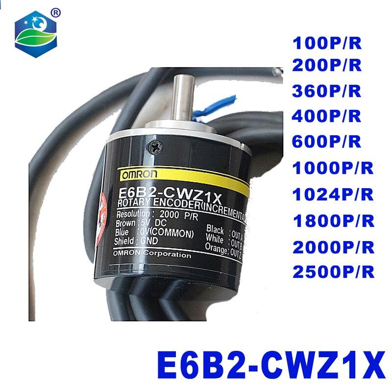 20 1pcs E6B2-CWZ1X OMRON Codificador Rotativo Óptico-100 200-1000 1800 1024 2000 2500P/R 5-24v linha 2000/2M Pulsos incremental