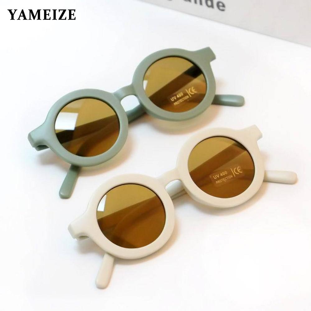 YAMEIZE Fashion Round Kids Sunglasses Boys Girls Vintage Sun Glasses UV Protection Classic Children