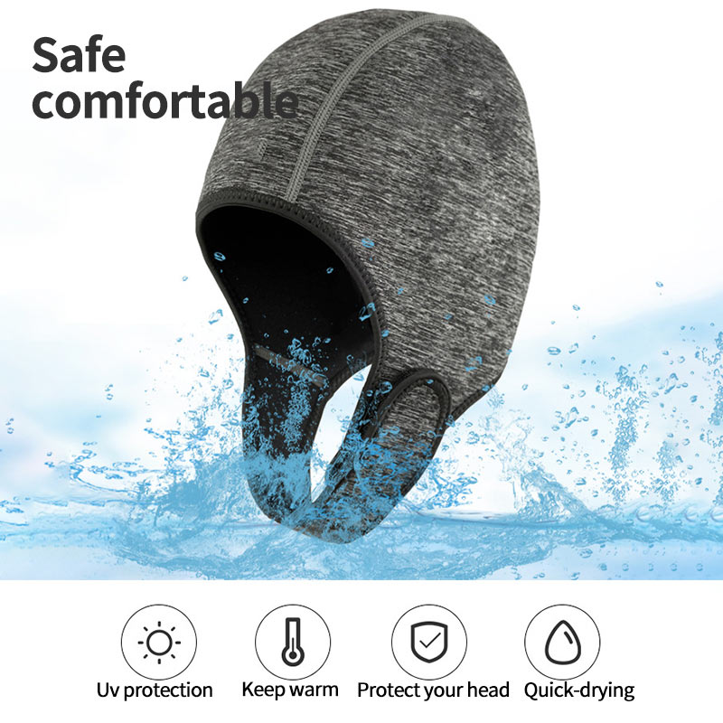 Swimming Cap 3mm Neoprene Diving Hat Professional Uniex NCR Fabric Winter Cold-Proof Wetsuits Head Cover Helmet Swimwear