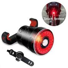 Vélo intelligent Auto frein détection lumière IPx6 LED étanche charge vélo feu arrière vélo accessoires de lumière arrière Q5