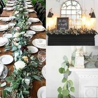 2m new artificial eucalyptus garland hanging rattan wedding greenery party home garden decor vines rattan artificial fake plants