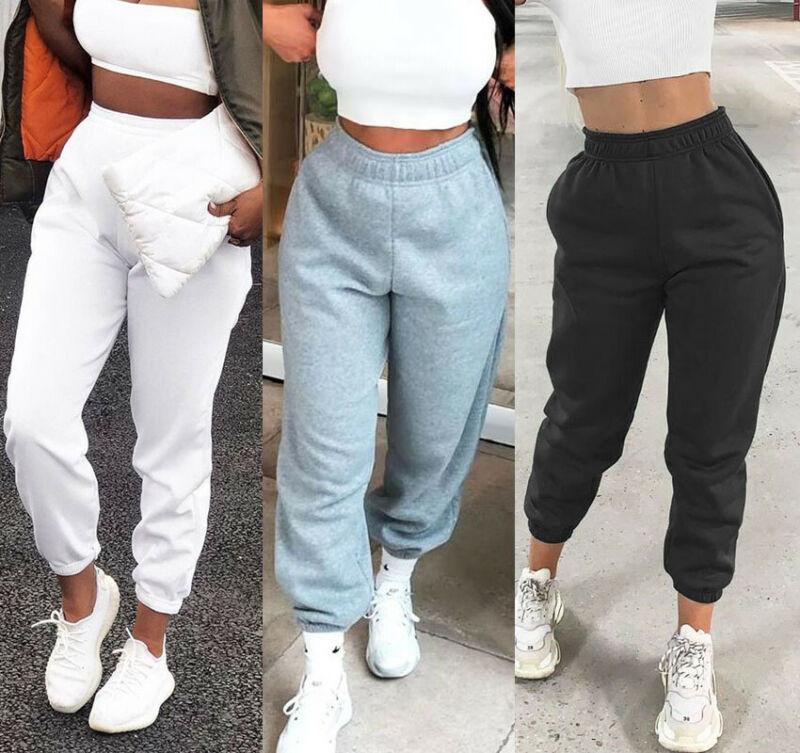 Брюки-султанки Женские повседневные, спортивные мешковатые штаны, однотонные штаны для фитнеса, Джоггеры для танцев, длинные штаны на шнурк...