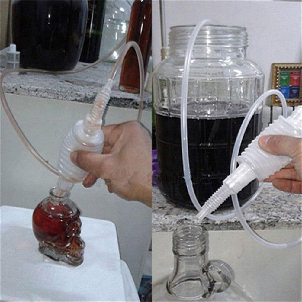Manual de plástico casa brew syphon tubo tubo mangueira vinho cerveja fazendo a ferramenta reutilizável