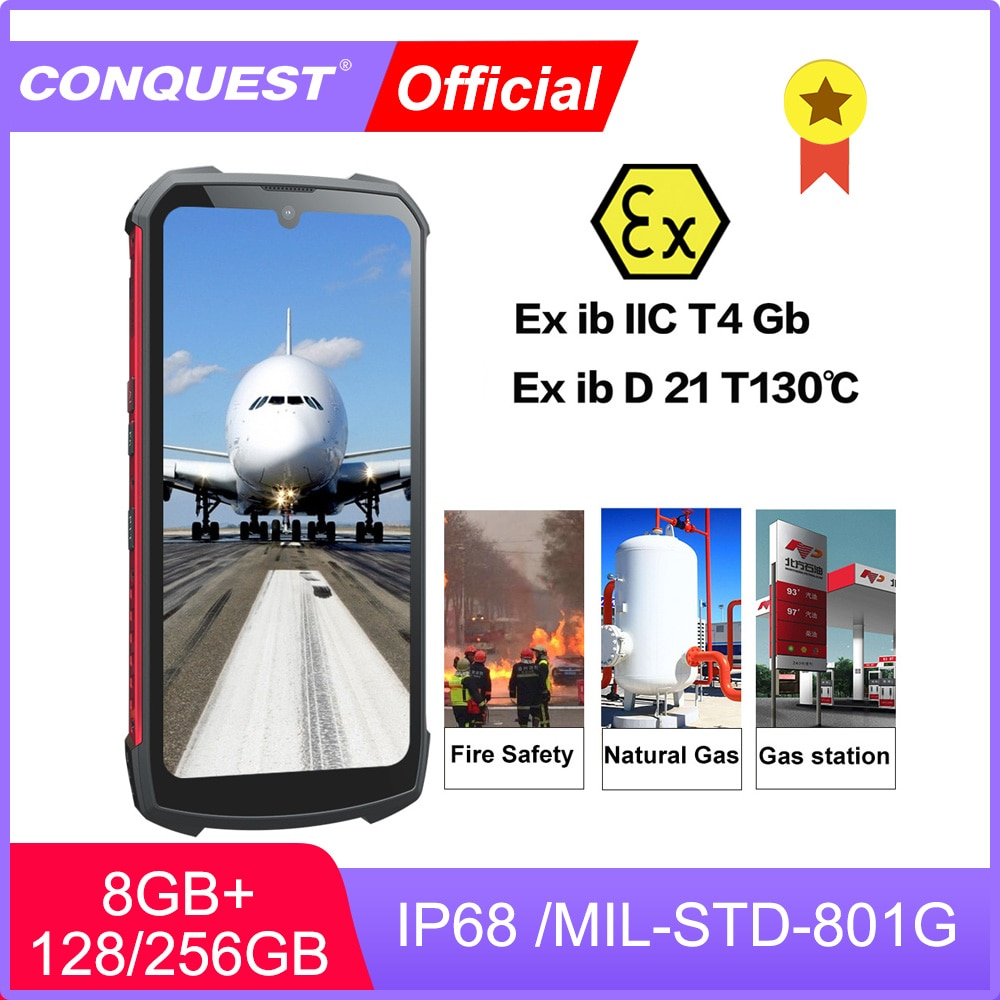 CONQUEST S16 ATEX Explosion-proof Android Phone Rugged IP68 Waterproof NFC Smartphones IP68 Celular Cell phone Unlocked