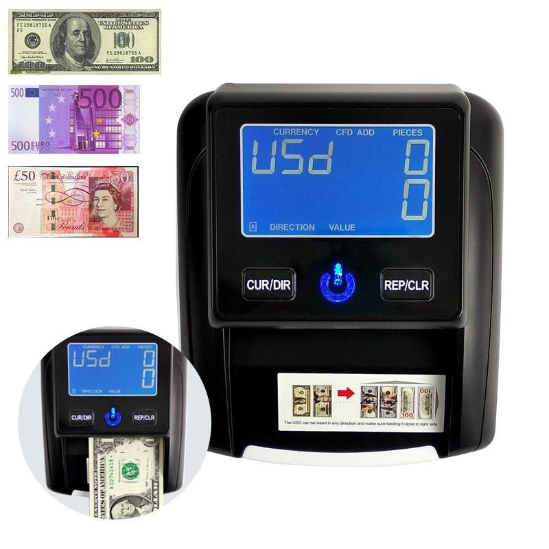 مصباح Uv LED/LCD لعرض الأوراق النقدية ، جهاز كشف الأوراق النقدية بالدولار الأمريكي/EUR/GBP/RUB/BRC ، النقود المزيفة ، عداد الأوراق النقدية ، شحن مجاني