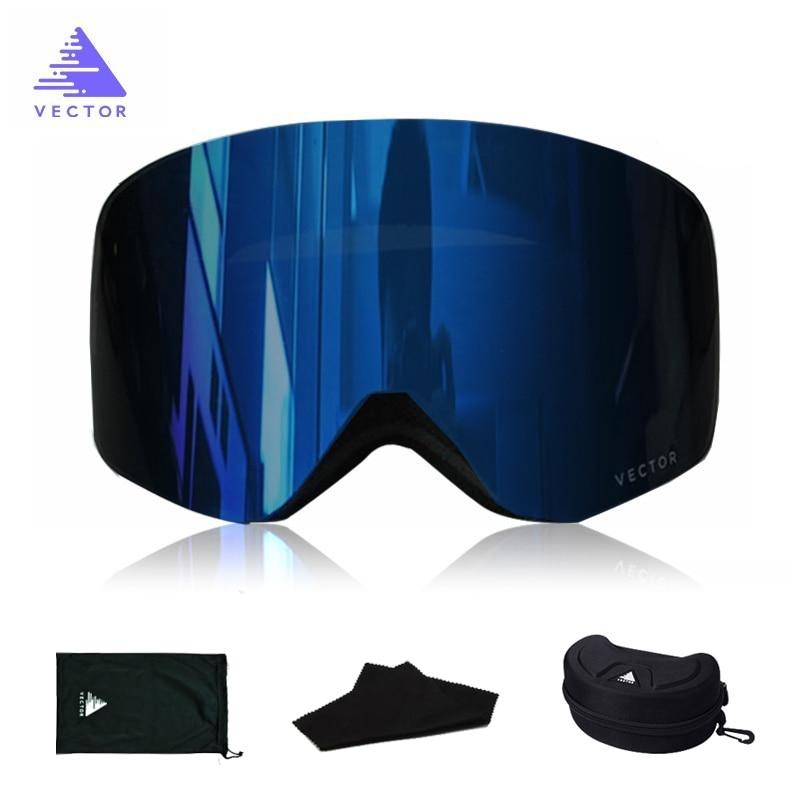OTG Ski Goggles Snowboard Mask For Men Women Skiing Eyewear UV400 Snow Protection Over Glasses  Double Anti-Fog Cylindrical