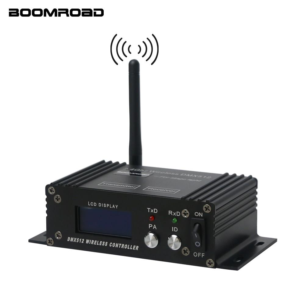2,4G inalámbrico DMX 512 controlador receptor transmisor pantalla LCD regulador DMX regulador para Disco DJ fiesta luz principal móvil