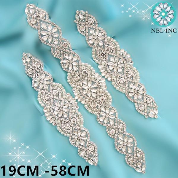 Pernikahan tali pinggang pengantin 1pc dengan tali pinggang kristal berlian imitasi applique sash belt untuk gaun pengantin