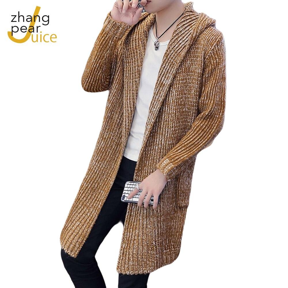 Мужской свитер, Однотонная рубашка, Корейская рубашка с длинным рукавом, мужской облегающий длинный кардиган, вязаный свитер