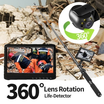 360 ° Lens Rotation Life- Detector With Two-way talkeback Function 1080P HD Life Detector &Search Camera With 7 inch LCD