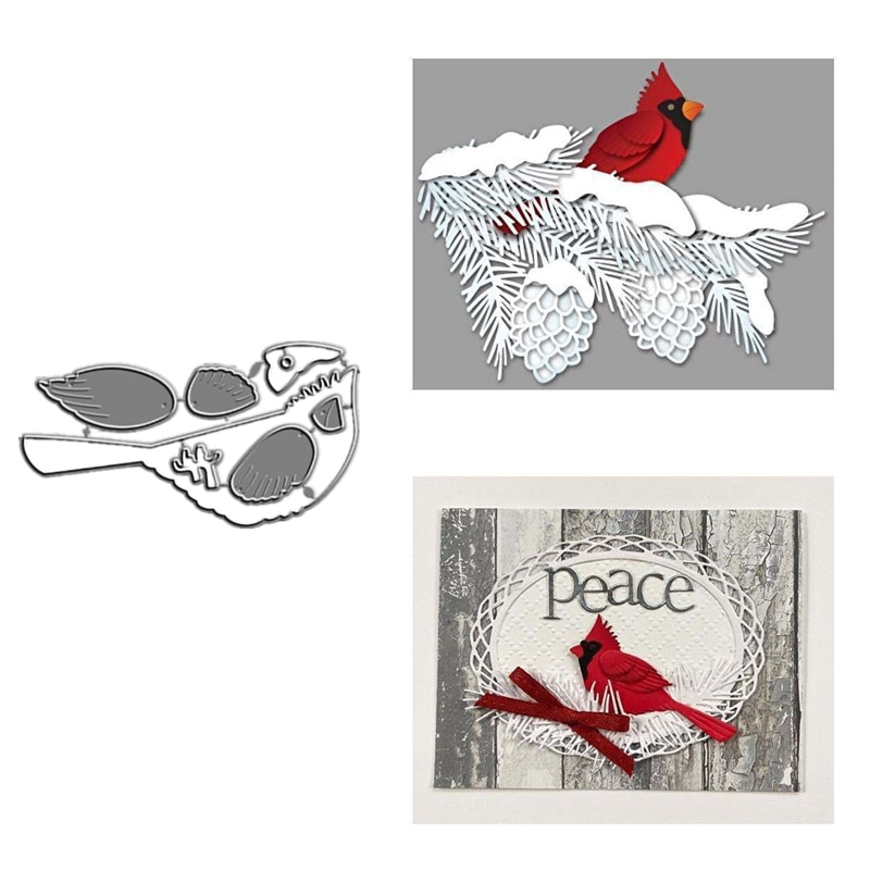 2021 New Metal Cutting Dies and Scrapbooking For Paper Making Cardinal Left Facing Bird Die Embossing Frame Card Craft No Stamps