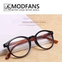 new stylis reading glasses for women men spring hinge round solid frame best gift for parent with pouch