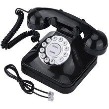 Старинный ретро телефон, старинный стационарный телефон для дома и офиса, настольный ретро телефон, проводной стационарный телефон, черный