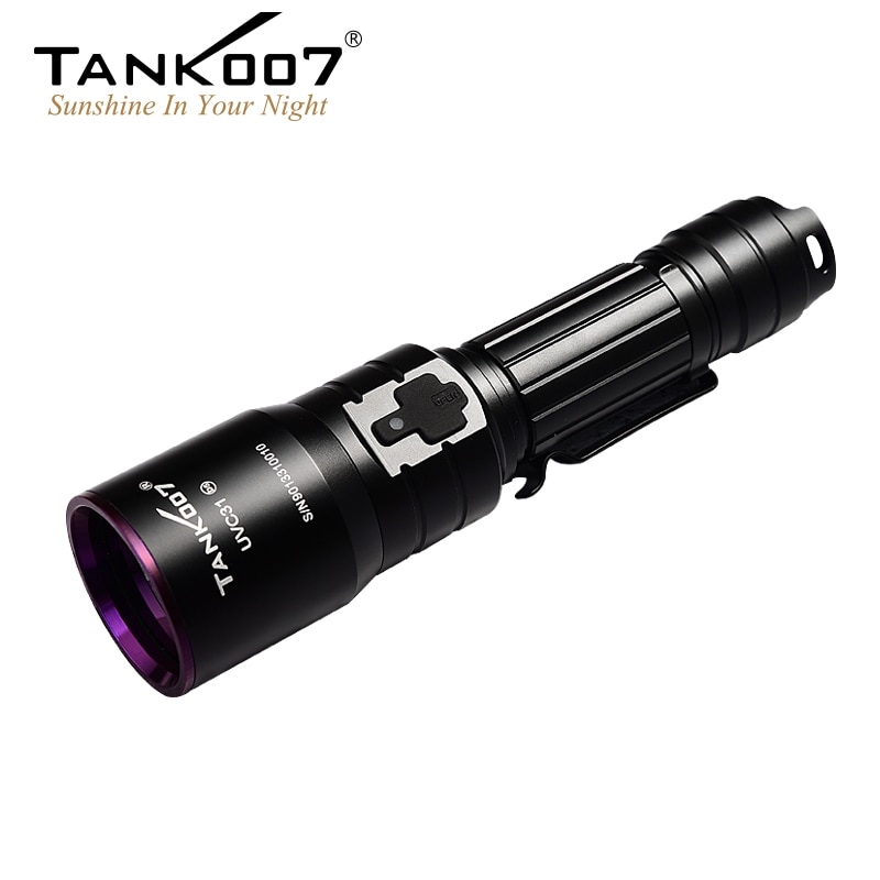 TANK007 UV-C31 UV Flashlight Nichia 365nm 5W USB Rechargeable Flashlight Pure Ultraviolet Light by 18650 Battery for Research enlarge