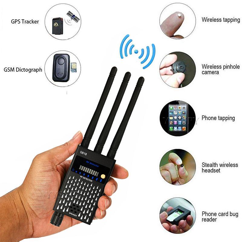 GSM GPS Signal Wireless Detector Professional RF Micro Wave Sensor Anti-candid Cam Finder Tracker Security Alarm Sensing Device