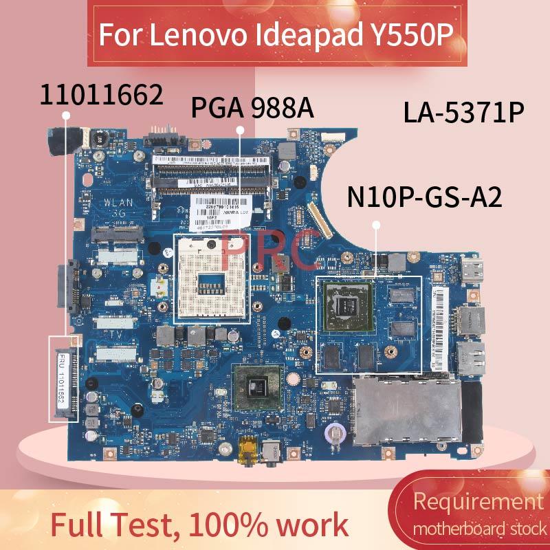 11011662 اللوحة المحمول لينوفو Ideapad Y550P مفكرة اللوحة LA-5371P HM55 N10P-GS-A2